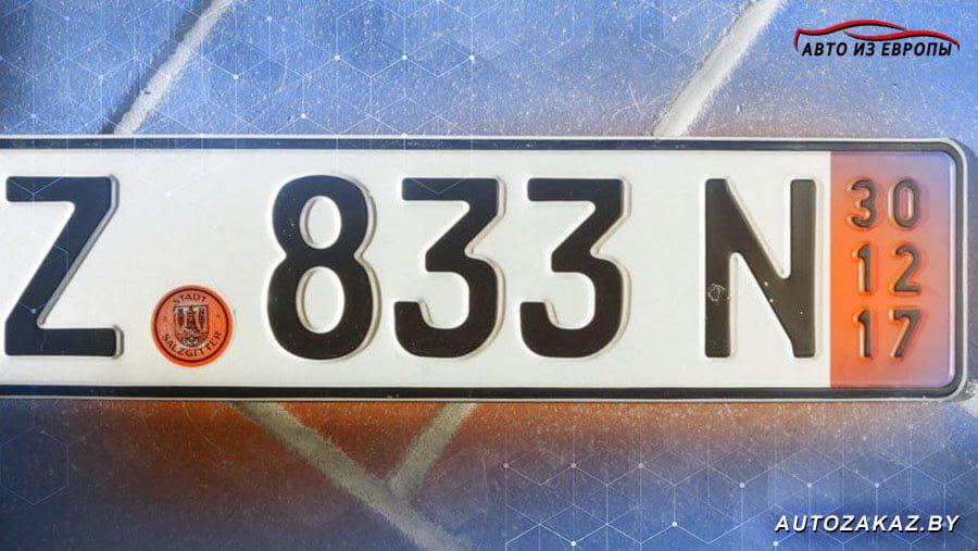 Красные транзитные номера Германия